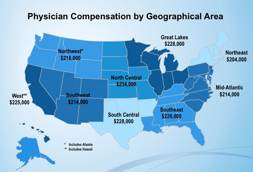 physician salary by state The Medscape Physician Compensation Report, 2012